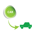 sticker car green vector image