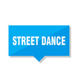 street dance price tag vector image vector image