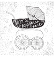 stroller with letteringMum is happiness here vector image vector image