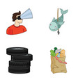 technology game and other web icon in cartoon vector image
