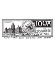 the state banner of iowa the hawkeye state vintage vector image vector image