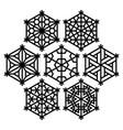 traditional japanese ornament kumiko vector image