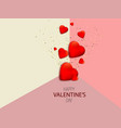 valentines day with red vector image vector image