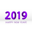 violet purple 2019 symbol happy new year isolated vector image vector image