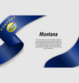 waving ribbon or banner with flag vector image vector image