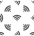 wifi locked sign icon isolated seamless pattern vector image