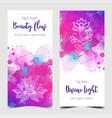 yoga card design colorful template for spiritual vector image