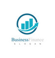 trade arrow business logo vector image