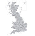 map of counties of great britain vector image