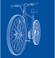 bicycle wire-frame style vector image