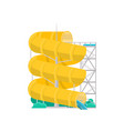 aqua park yellow plastic water tube icon