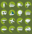 assembly icons transport delivery set vector image vector image