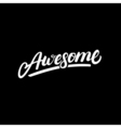 Awesome hand written lettering vector image