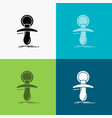 baby dummy newbie nipple noob icon over various vector image vector image