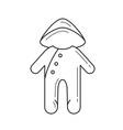 baby sleepsuit line icon vector image vector image
