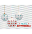 Christmas baubles with stars on white 3d vector image vector image