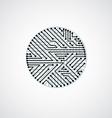 circuit board circle digital technologies vector image vector image