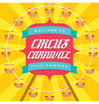 Circus Carnival Poster Template vector image vector image