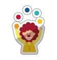 Circus clown cartoon vector image