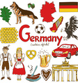 Collection of Germany icons vector image vector image