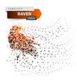 crow raven - glare dot vector image