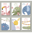 Cute birthday cards vector image vector image