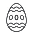 easter egg line icon food and easter decoration vector image vector image