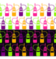 Endless background of bottle vector image vector image