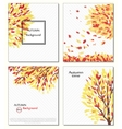 Fall of the leaves Hello autumn Leaves are drawn vector image vector image