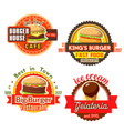 fast food burgers ice cream icons vector image vector image