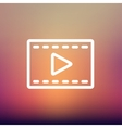 Film strip with arrow thin line icon vector image
