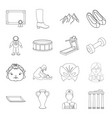 fitness sports education and other web icon in vector image vector image
