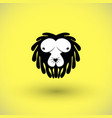 funny picture of lion vector image