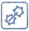 gear integration fabric textured icon vector image