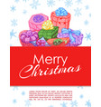 gifts festive hand drawn banner or frame vector image vector image