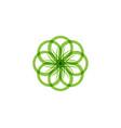 green leaf flower floral patterns logo and vector image