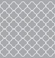 grey quatrefoil outline ornamental pattern vector image vector image