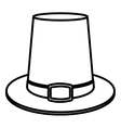Hat of Thanksgiving design vector image vector image