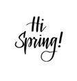hello spring seasonal greetings hand drawn vector image
