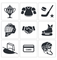 Hockey icon collection vector image