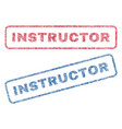 instructor textile stamps vector image vector image