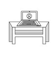 isolated desk design vector image