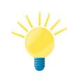 isolated energy bulb vector image vector image