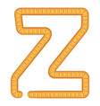 letter z bread icon cartoon style vector image