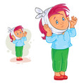 little girl with toothache and warming vector image vector image