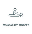 massage spa therapy line icon linear vector image