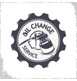 oil change services logo vector image vector image