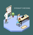 ophthalmology isometric composition vector image vector image