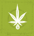 organic cbd oil hemp health care design vector image vector image