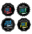 PC Computer on Black Friday Sale Background vector image vector image